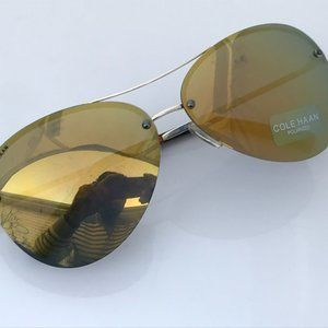 Cole Haan Polarized Sunglasses Gold Flash CH7033 6